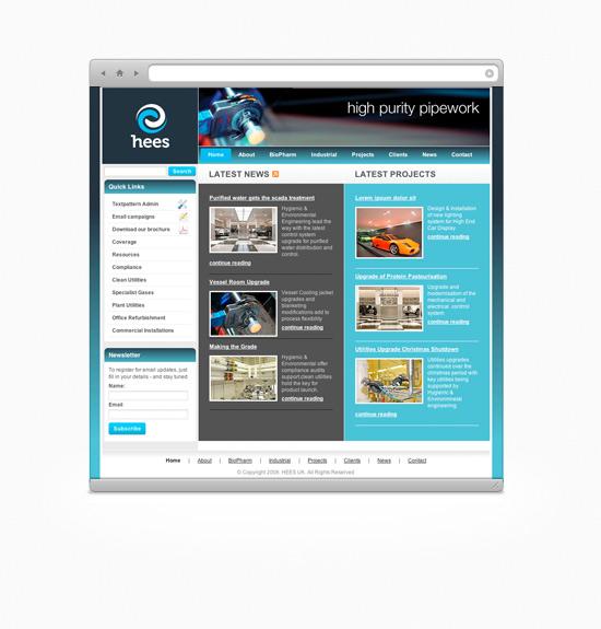 Hees UK Site Design